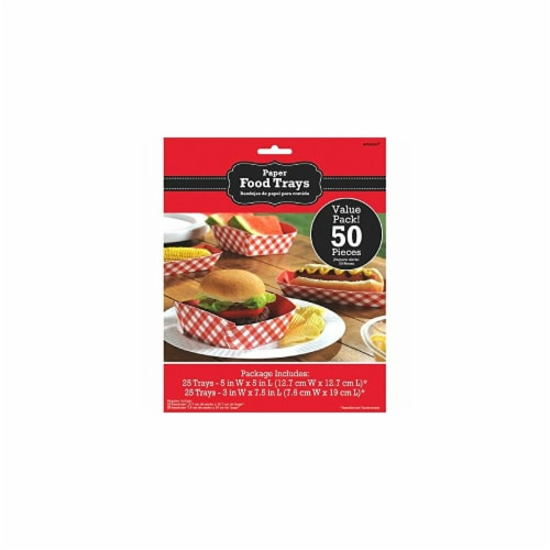 Amscan Summer Picnic Gingham Food Trays - Pack of 2 Perspective: front