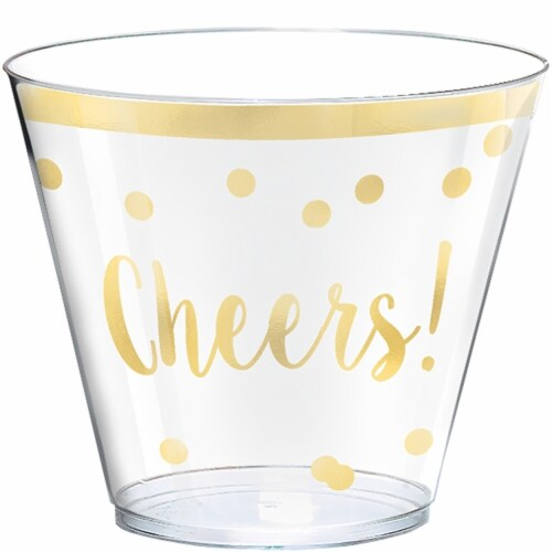 Amscan 350230 New Year Cheers Plastic Tumblers - 30 Piece per Pack, Pack of 2 Perspective: front