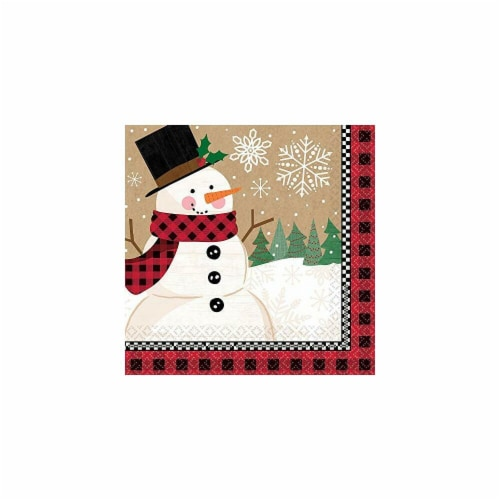Amscan 521679 Christmas Winter Wonder Dinner Napkins - 16 Piece per Pack, Pack of 3 Perspective: front