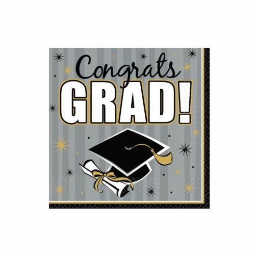 Amscan Congrats Grad Luncheon Napkins Perspective: front