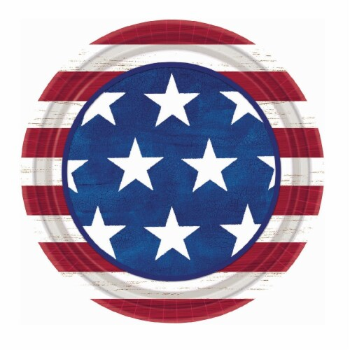 Amscan Americana 7-Inch Round Plates Perspective: front