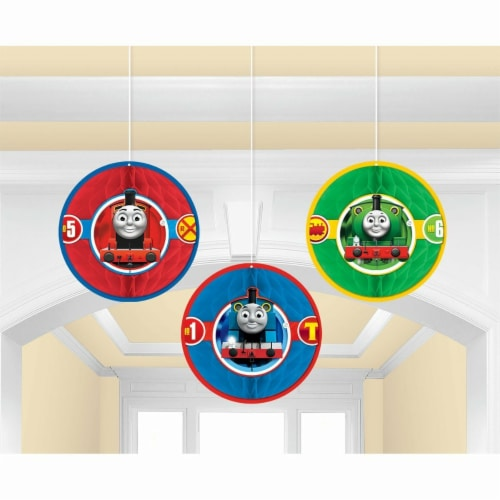 Thomas All Aboard Honeycomb Decorations Perspective: front
