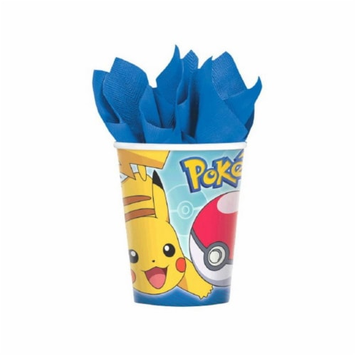 Pokemon 9 oz Cups [8 Per Pack] Perspective: front
