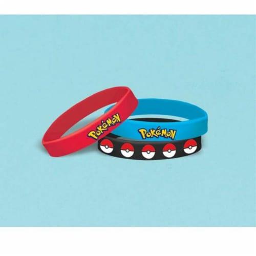 Pokemon Stretchy Bracelets [6 per Pack] Perspective: front
