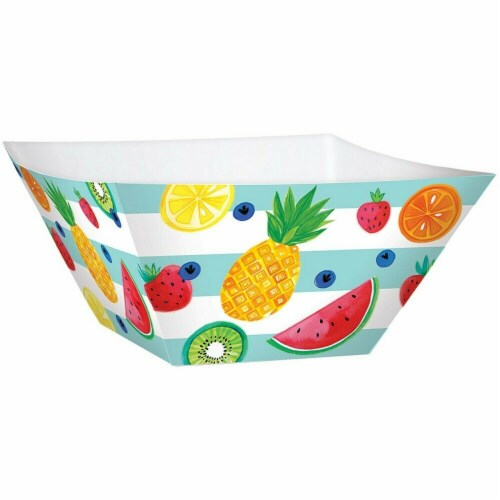 BuySeasons 268127 Hello Summer Large Square Paper Bowls Perspective: front