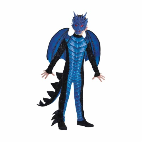 Amscan 402945 Child Deadly Dragon Costume for Boys, Large 12-14 Perspective: front