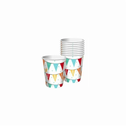 Amscan 732172 Barnyard Birthday 9 oz Paper Cups - 18 Piece Perspective: front