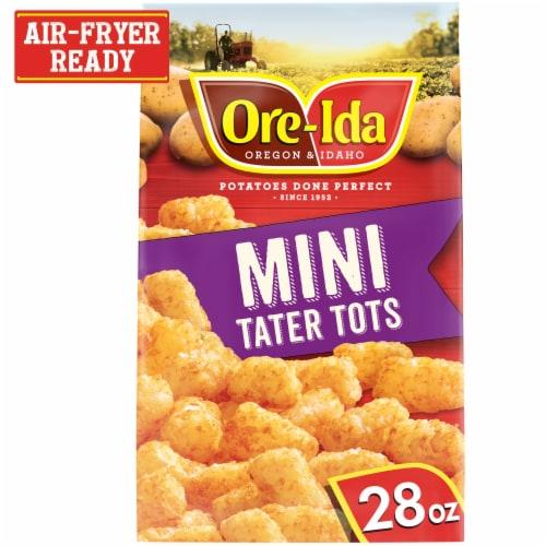 Ore-Ida Mini Tater Tots Seasoned Shredded Potatoes Perspective: front