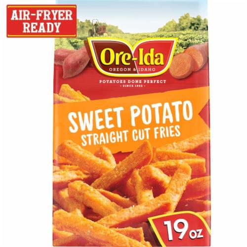 Ore Ida Gluten Free Sweet Potato Straight Cut Frozen Fries Perspective: front