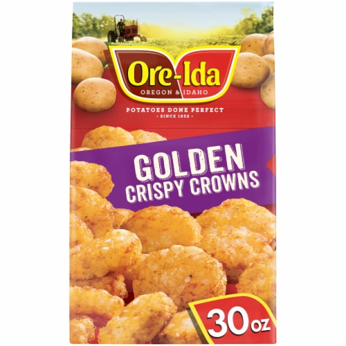 Ore-Ida Golden Crispy Crowns Seasoned Shredded Potatoes Perspective: front