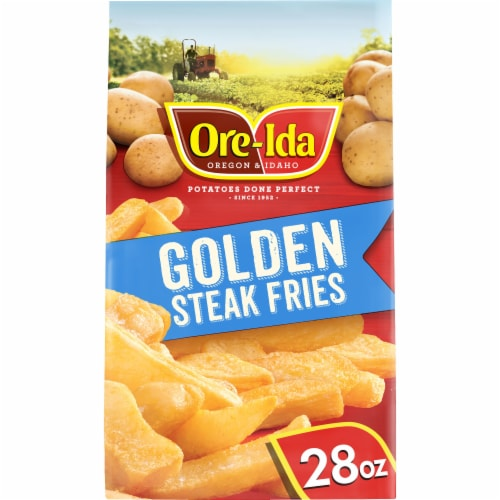 Ore-Ida Steak Fries Thick-Cut French Fried Potatoes Perspective: front