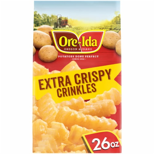 Ore-Ida Extra Crispy Crinkles French Fried Potatoes Perspective: front