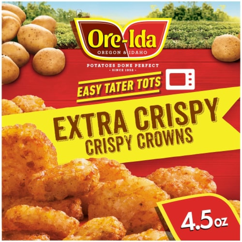 Ore-Ida Ready in 5 Extra Crispy Crown Tater Tots Perspective: front