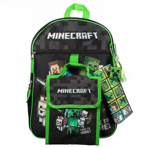 Bioworld Minecraft Backpack Set Perspective: front