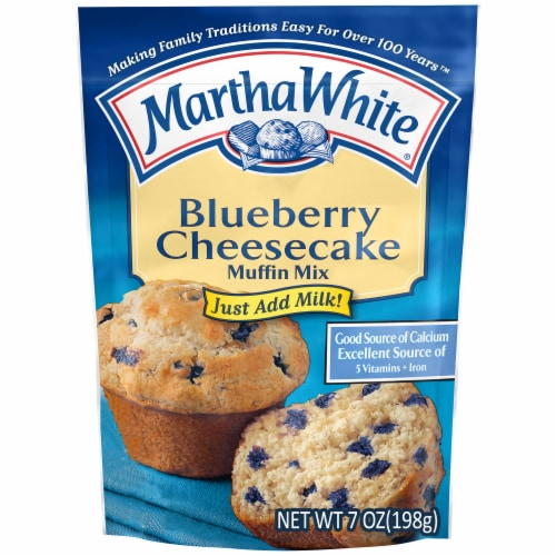 Martha White Blueberry Cheesecake Muffin Mix Perspective: front