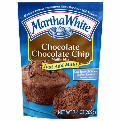 Martha White Chocolate Chocolate Chip Muffin Mix Perspective: front
