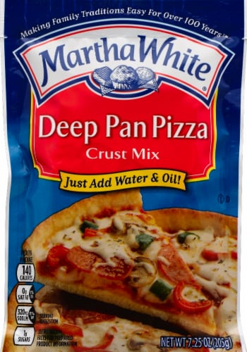 Martha White Deep Pan Pizza Crust Perspective: front