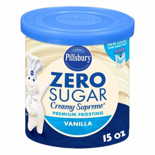 Pillsbury Creamy Supreme Sugar Free Vanilla Frosting Perspective: front