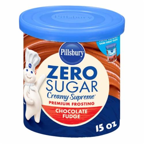 Pillsbury Sugar Free Chocolate Fudge Frosting Perspective: front