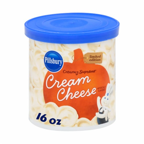 Pillsbury Creamy Supreme Cream Cheese Frosting Perspective: front