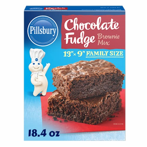 Pillsbury Chocolate Fudge Brownie Mix Perspective: front