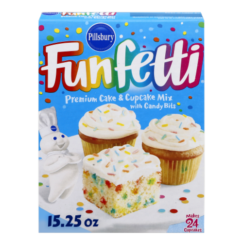 Pillsbury Funfetti Premium Cake & Cupcake Mix Perspective: front