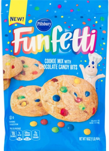 Pillsbury Funfetti Chocolate Candy Bit Cookie Mix Perspective: front