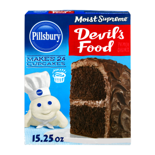 Pillsbury Moist Supreme Devil's Food Premium Cake Mix Perspective: front