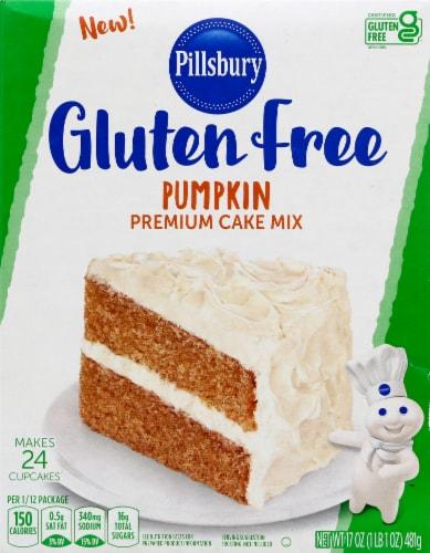 Pillsbury Gluten Free Pumpkin Premium Cake Mix Perspective: front