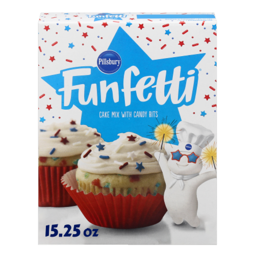 Pillsbury Funfetti Stars and Stripes Cake Mix Perspective: front