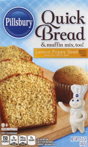 Pillsbury Lemon Poppy Seed Quick Bread Mix Perspective: front