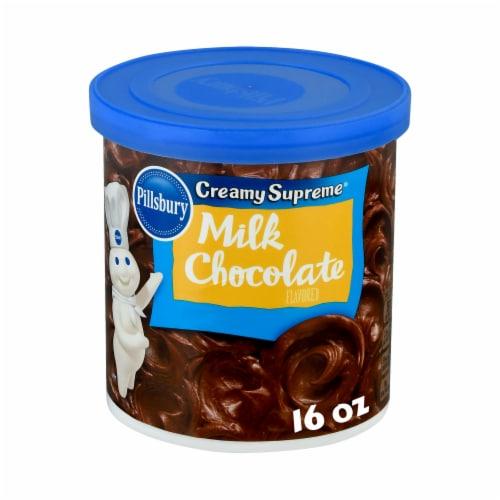 Pillsbury Creamy Supreme Milk Chocolate Frosting Perspective: front