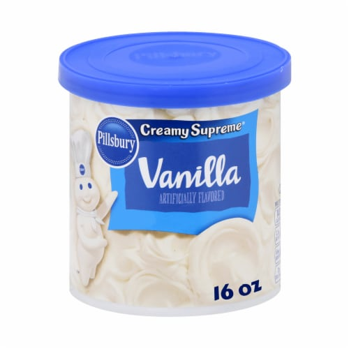 Pillsbury Creamy Supreme Vanilla Frosting Perspective: front