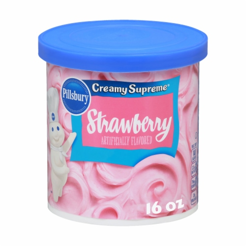 Pillsbury Creamy Supreme Strawberry Frosting Perspective: front