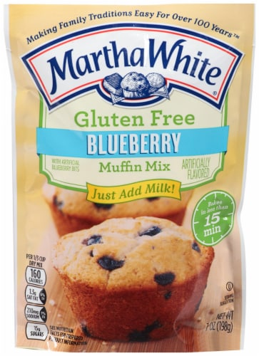 Martha White Gluten Free Blueberry Muffin Mix Perspective: front