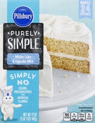 Pillsbury Purely Simple White Cake Mix Perspective: front
