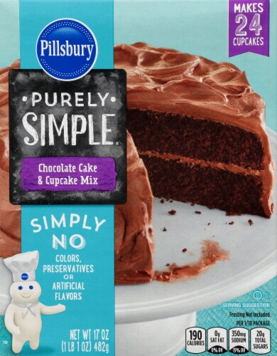 Pillsbury Purely Simple Chocolate Cake Mix Perspective: front
