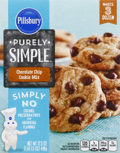 Pillsbury Purely Simple Chocolate Chip Cookie Mix Perspective: front