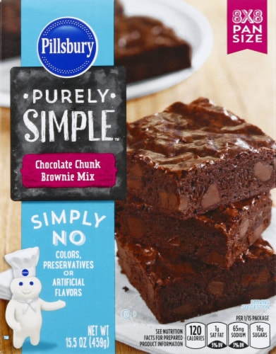 Pillsbury Purely Simple Chocolate Chunk Brownie Mix Perspective: front