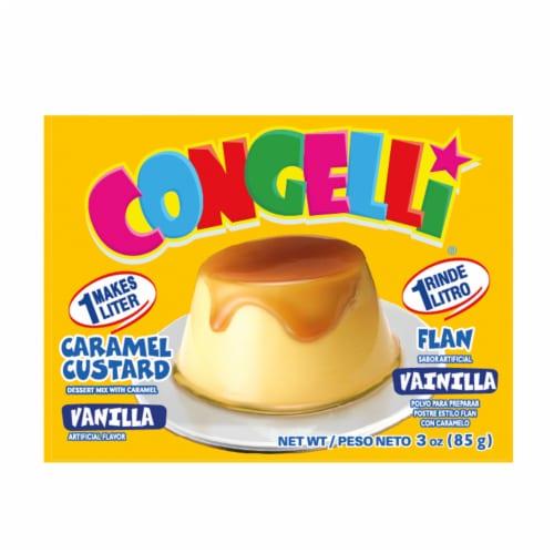 Congelli Vanilla Caramel Custard Flan Perspective: front