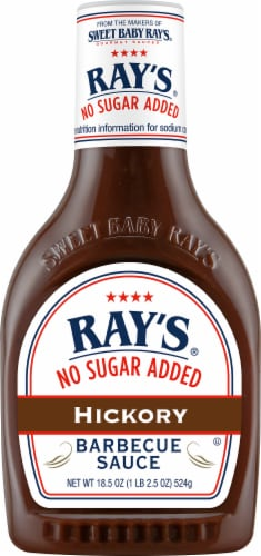 Sweet Baby Ray's No Sugar Added Hickory Barbecue Sauce Perspective: front