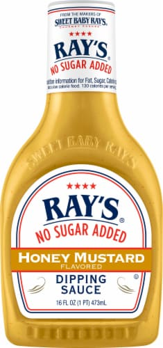 Sweet Baby Ray's No Sugar Added Honey Mustard Dipping Sauce Perspective: front