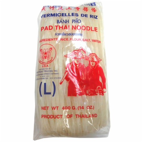 Butterfly Brand Jantaboon Rice Sticks Pad Thai Noodles Perspective: front