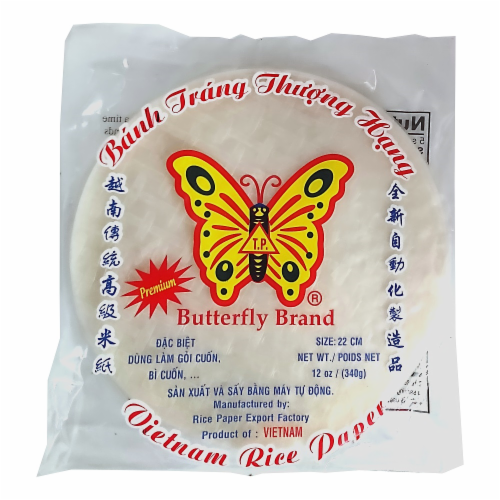 Butterfly Brand Banh Trang Vietnamese Rice Paper Perspective: front