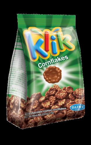 Klik Milk Chocolate Coated Cornflakes Perspective: front