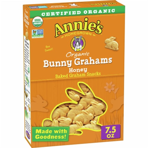 Annie's Organic Honey Bunny Baked Graham Snacks Perspective: front