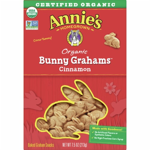 Annie's Organic Cinnamon Baked Bunny Grahams Perspective: front