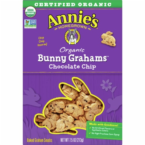 Annie's Organic Chocolate Chip Bunny Grahams Perspective: front