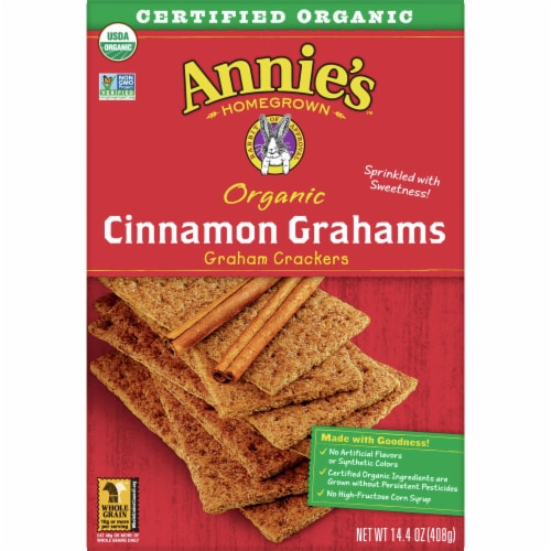 Annie's Homegrown Organic Cinnamon Graham Crackers Perspective: front