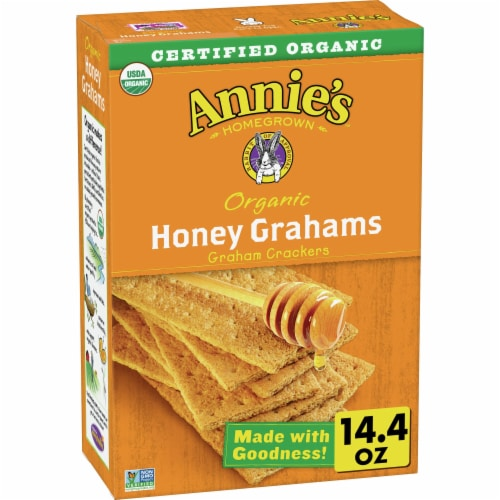 Annie's Organic Honey Graham Crackers Perspective: front